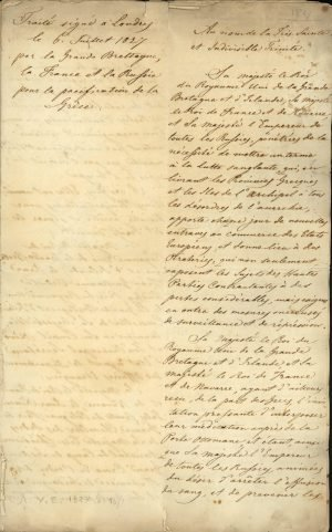 Copy of the Treaty of London 1827 between the three Great Powers (United Kingdom, France, Russia) Page 2
