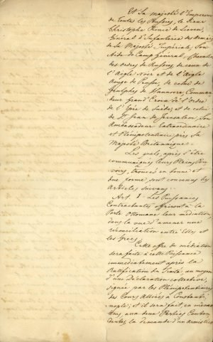 Copy of the Treaty of London 1827 between the three Great Powers (United Kingdom, France, Russia) Page 4