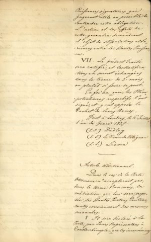 Copy of the Treaty of London 1827 between the three Great Powers (United Kingdom, France, Russia) Page 7