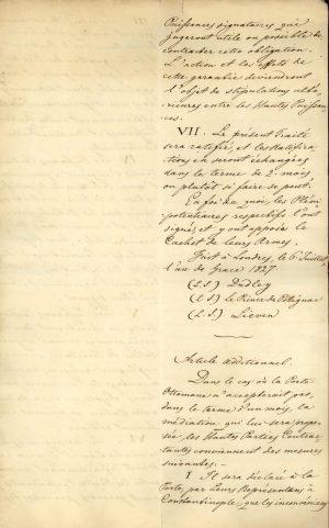 Αντίγραφο της Συνθήκης του Λονδίνου μεταξύ των τριών Μεγάλων Δυνάμεων (Ηνωμένου Βασιλείου, Γαλλίας, Ρωσίας)