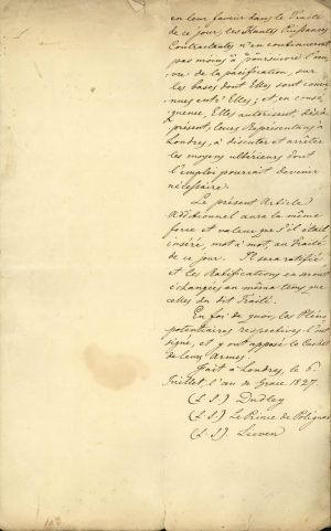Copy of the Treaty of London 1827 between the three Great Powers (United Kingdom, France, Russia) Page 10