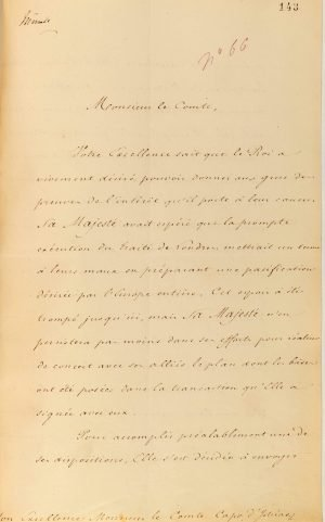 French Minister of Foreign Affairs Count Auguste de la Feronnays notifies Governor of Greece Ioannis Kaposistrias of the nomination of Baron Antoine Juchereau de Saint-Denis as the French Consular Agent to the Greek Government Page 1