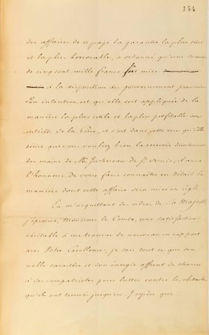 French Minister of Foreign Affairs Count Auguste de la Feronnays notifies Governor of Greece Ioannis Kaposistrias of the nomination of Baron Antoine Juchereau de Saint-Denis as the French Consular Agent to the Greek Government Page 3