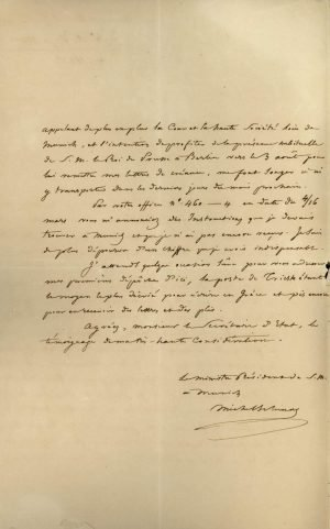 The first appointed Ambassador of Greece to Bavaria and Prussia, Michael Schinas, describes the presentation of his credentials to the King of Bavaria on 14 June 1834 Page 2