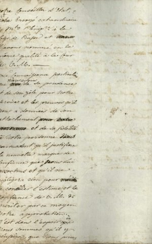 Copy of the credentials of Alexandros Mavrokordatos to the King of Bavaria Page 2