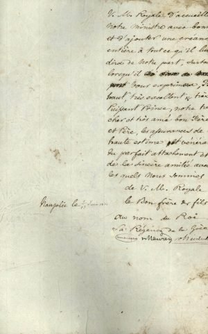 Copy of the credentials of Alexandros Mavrokordatos to the King of Bavaria Page 3