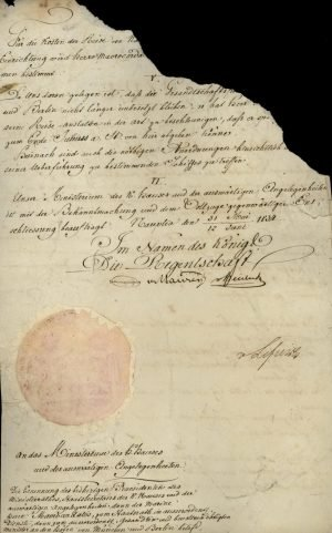 Decree appointing Alexandros Mavrokordatos, until then Prime Minister and Minister of Foreign Affairs, as Ambassador of Greece in Bavaria and Prussia Page 2