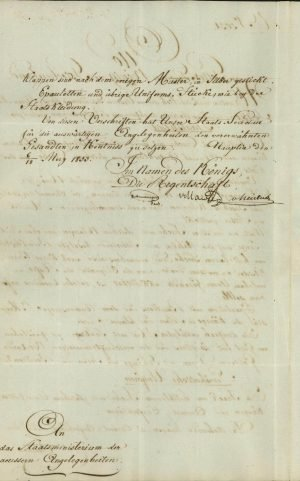 Decree of the Regency defining the formal and casual attire of the first Ambassador of Greece in Paris, Michael Soutzos Page 2
