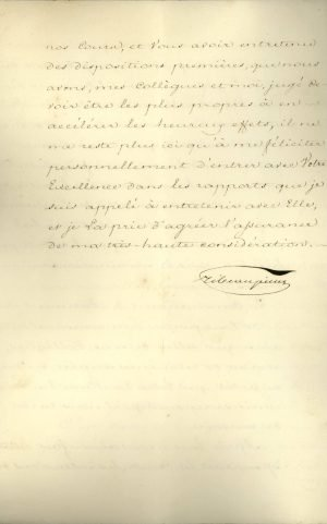The Ambassador of Russia in Constantinople, Count Alexandre de Ribeaupierre, sends a letter to Governor of Greece Ioannis Kapodistrias from Corfu, where the Ambassadors of the three Great Powers convene, asking him for statistics to be used during the Conference Page 3