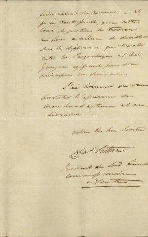 Επιστολή του Τοποτηρητή (Διοικητή) της Ζακύνθου Charles Sutton προς την ελληνική Κυβέρνηση σελ. 3