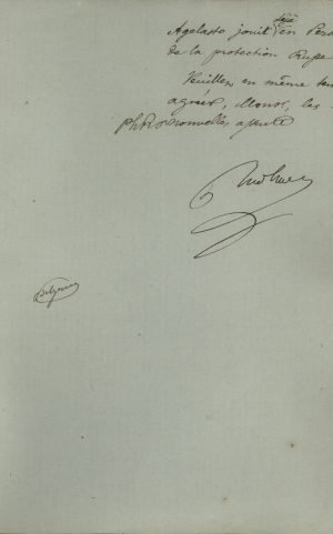 Prime Minister and Minister of Foreign Affairs of Greece Ignaz von Rudhart sends a letter to the Ambassador of Russia in Athens, Gavriil Catacazy, asking for the Russian Government's intervention so that the first Consul of Greece in Tabriz, Pantias A. Rally, is swiftly recognized by the Persian Government Page 3