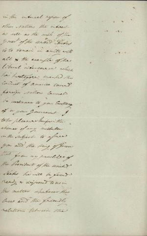Αντίγραφο επιστολής του Πρεσβευτή των ΗΠΑ στο Λονδίνο Andrew Stevenson προς τον Έλληνα Πρεσβευτή εκεί Σπυρίδωνα Τρικούπη σελ. 2