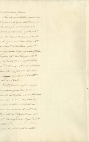 Translation of the Note of the Sublime Porte to the Chargé d'Affaires of France in Constantinople, in which the Ottoman Government acknowledges the election of Othon to the throne of Greece Page 2