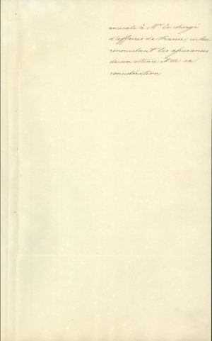 Translation of the Note of the Sublime Porte to the Chargé d'Affaires of France in Constantinople, in which the Ottoman Government acknowledges the election of Othon to the throne of Greece Page 3