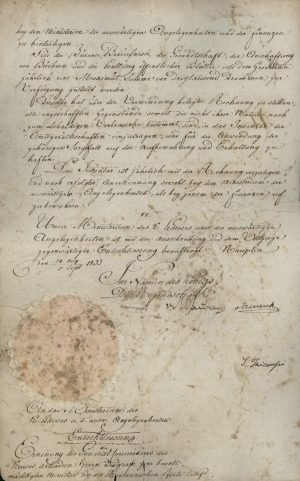 Decree nominating Konstantinos Zografos as the first Ambassador of Greece in Constantinople Page 2