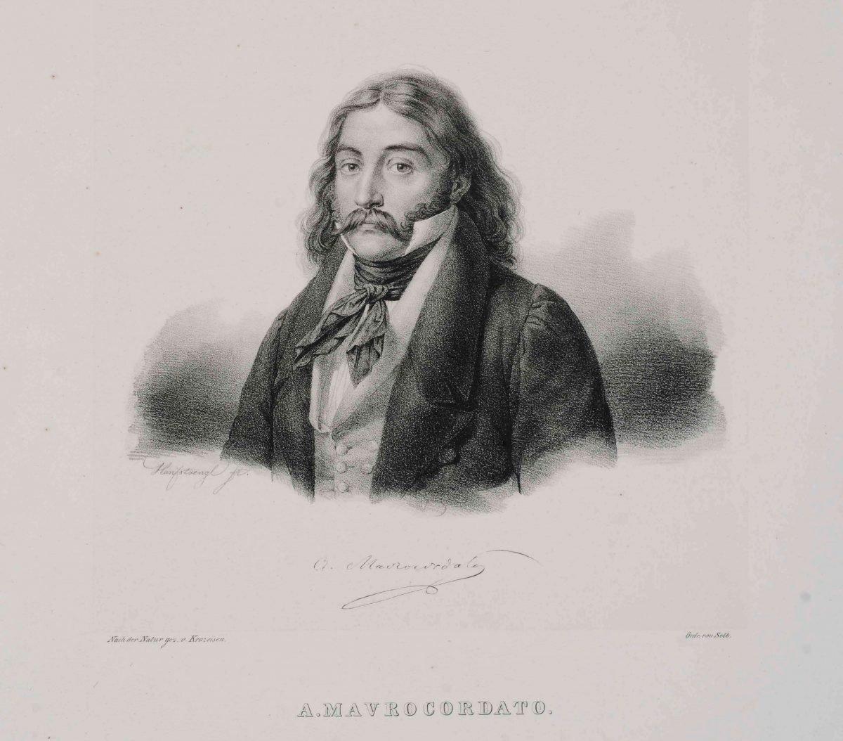 Αλέξανδρος Μαυροκορδάτος  (1791-1865) Λιθογραφία του  Karl Krazeisen  Πηγή: Εθνικό Ιστορικό Μουσείο, Αθήνα